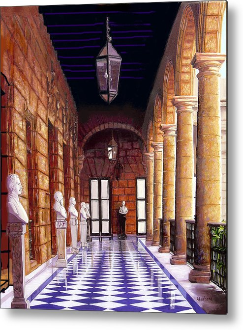 Cuban Art Metal Print featuring the painting Palacio by Jose Manuel Abraham