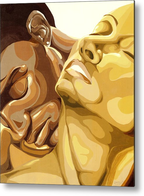 Figures Metal Print featuring the painting Passion by Lamark Crosby