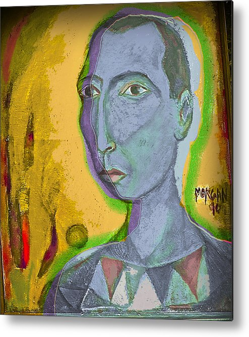 Portrait Metal Print featuring the painting Prince Of The Nile by Noredin Morgan