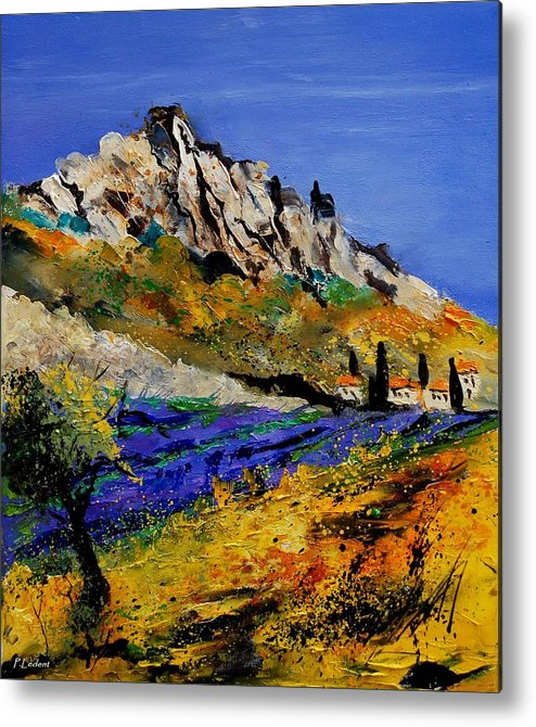 Flowers Metal Print featuring the painting Provence 560908 by Pol Ledent