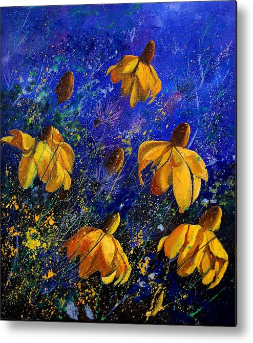 Poppies Metal Print featuring the painting Rudbeckia's by Pol Ledent