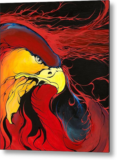 Eagle Metal Print featuring the painting Sacred Eagle by Dallas Poundmaker