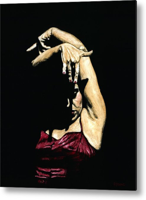Flamenco Metal Print featuring the painting Seclusion Del Flamenco by Richard Young