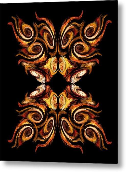 Fractal Metal Print featuring the digital art Solar Moth by Stormshade Designs