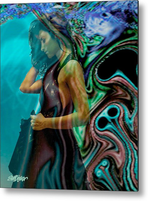 Beautiful Women Metal Print featuring the digital art Spell Of A Woman by Seth Weaver