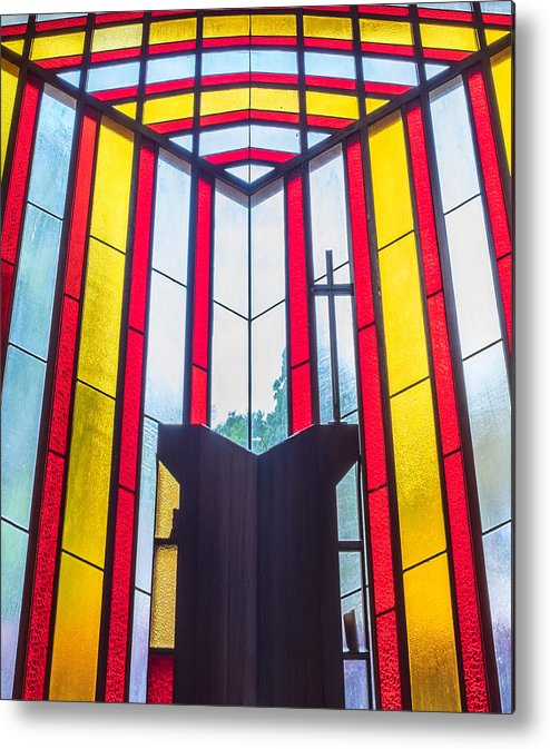Catholic Metal Print featuring the photograph Stained Glass Reminder by Carl Clay