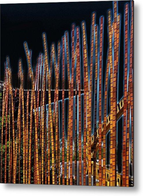 Poles Metal Print featuring the digital art Sticks by Kenna Westerman