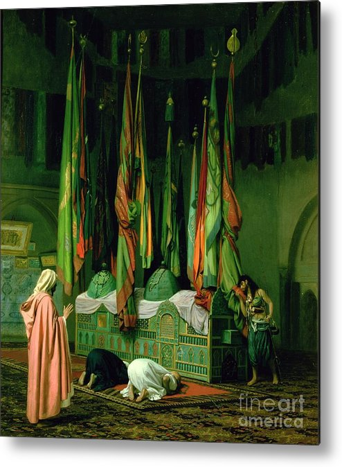 The Metal Print featuring the painting The Shrine Of Imam Hussein by Jean Leon Gerome