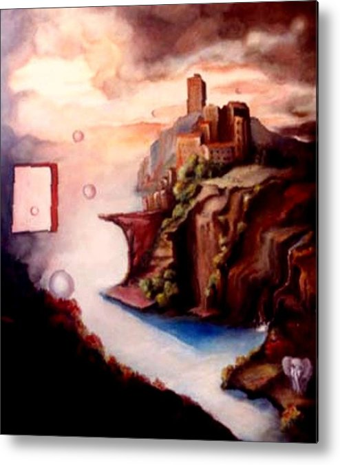 Surreal Metal Print featuring the painting The Window by Jordana Sands