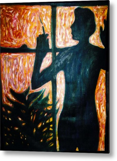 Portrait Metal Print featuring the painting Those Were The Shadows That Was The Wall II by Stephen Mead