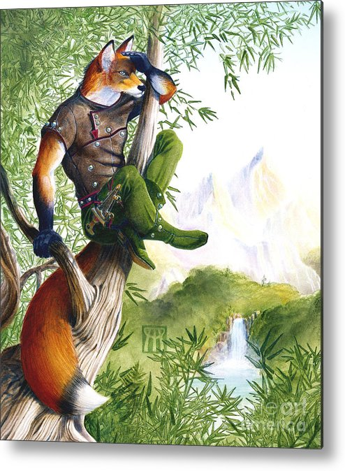 Fantasy Metal Print featuring the painting Trail Blazing Fox by Melissa A Benson