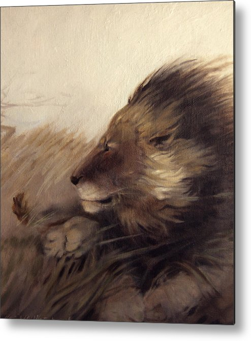Animal Metal Print featuring the painting Wind by Patrick McClintock