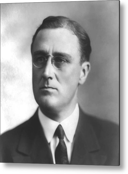 Franklin Roosevelt Metal Print featuring the painting Young Franklin Delano Roosevelt by War Is Hell Store