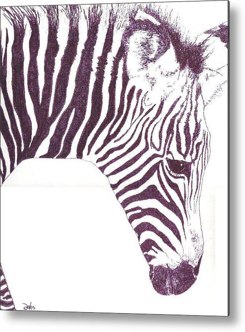 Zebra Metal Print featuring the painting Zebra Colt by Debra Sandstrom