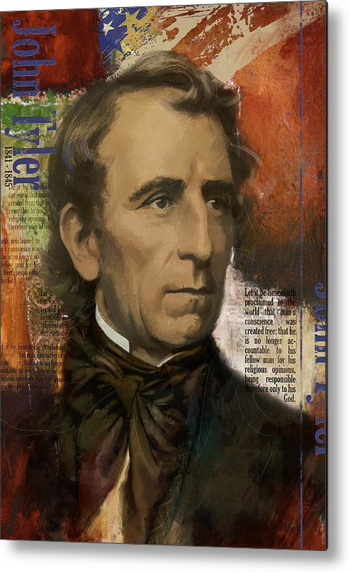 John Tyler Metal Print featuring the painting John Tyler by Corporate Art Task Force
