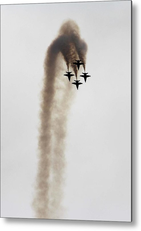 Jets Metal Print featuring the photograph Roll Over by John Langdon