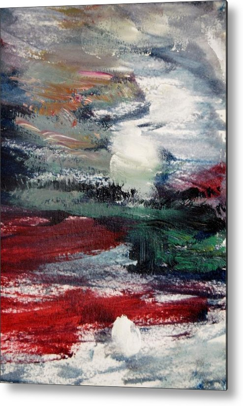 Sea Metal Print featuring the painting Sun And Sea by Edward Wolverton