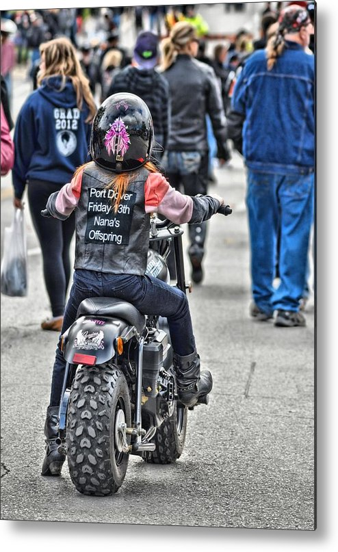 Biker Metal Print featuring the photograph Tracybphotography by Tracy Bennett