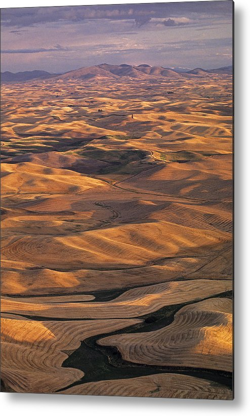 Usa Metal Print featuring the photograph After Harvest From Steptoe Butte by Doug Davidson