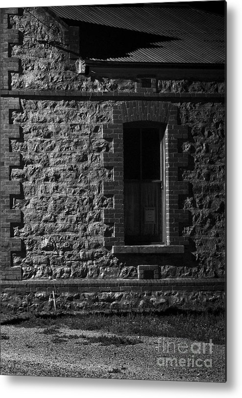 Window Metal Print featuring the photograph And Through The Wire by Russ Brown