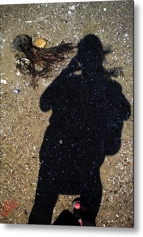 Colette Metal Print featuring the photograph Becoming One With The Beach Stones by Colette V Hera Guggenheim