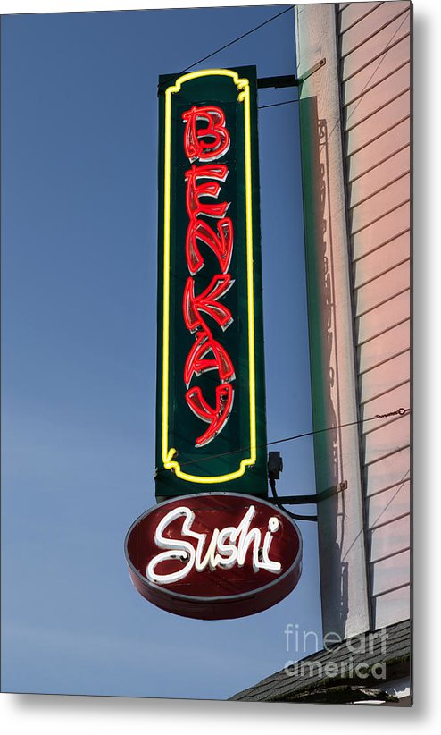 Sign Metal Print featuring the photograph Benkay Sushi by Jerry Fornarotto