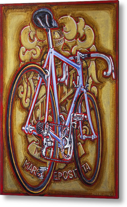 Cinelli Metal Print featuring the painting Cinelli Laser Bicycle by Mark Howard Jones