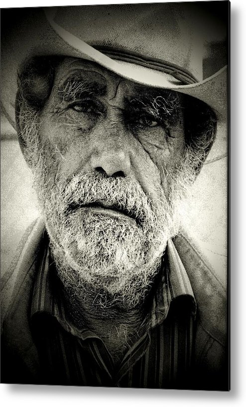 Homeless Metal Print featuring the photograph Cowboy Immokalee Fl by Michael L Kimble