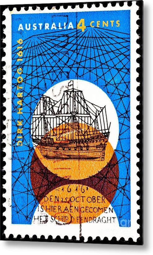 Australia Metal Print featuring the photograph Dutch Dirk Hartog Sailing Ship by Jim Pruitt