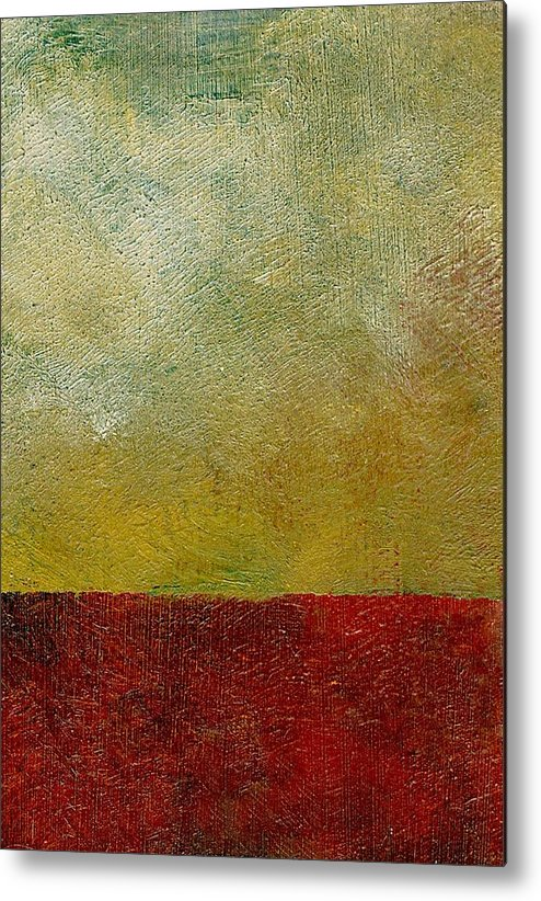 Abstract Landscape Metal Print featuring the painting Earth Study One by Michelle Calkins