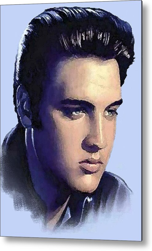 Elvis Presley Metal Print featuring the photograph Elvis by Jim Markiewicz
