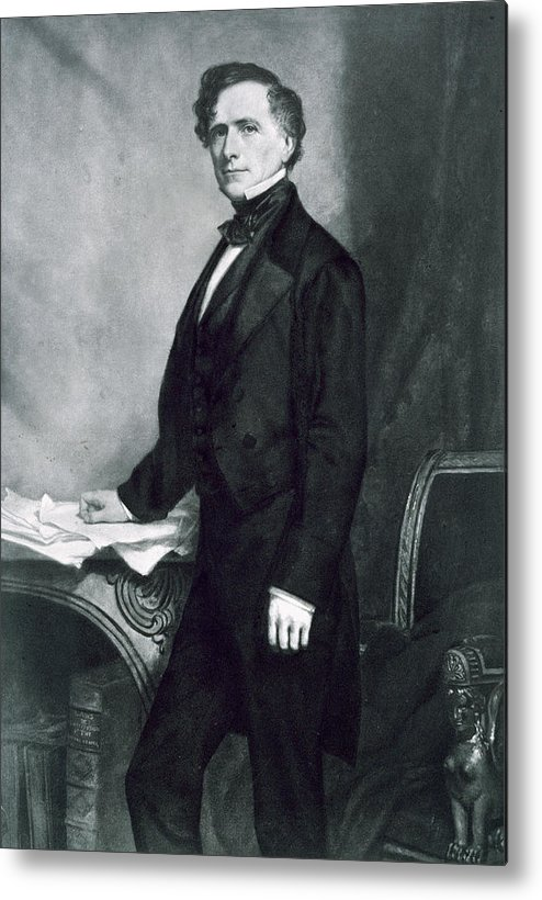 Franklin Pierce Metal Print featuring the painting Franklin Pierce by George Healy