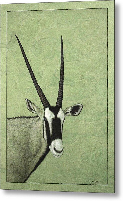 Gemsbok Metal Print featuring the painting Gemsbok by James W Johnson
