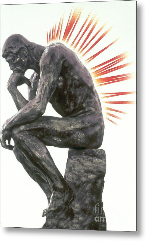 Back Pain Metal Print featuring the photograph Illustration Of Back Pain by Dennis Potokar