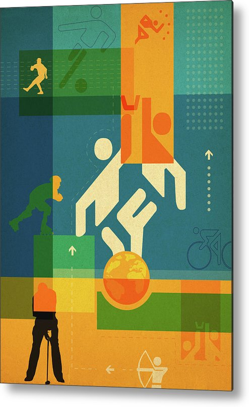 Action Metal Print featuring the photograph Illustration Of Various Sports by Fanatic Studio / Science Photo Library