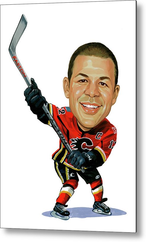 Jarome Iginla Metal Print featuring the painting Jarome Iginla by Art