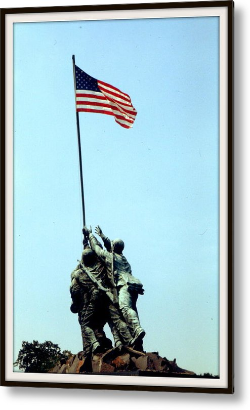 Statue Metal Print featuring the photograph Old Glory by Greg Thiemeyer