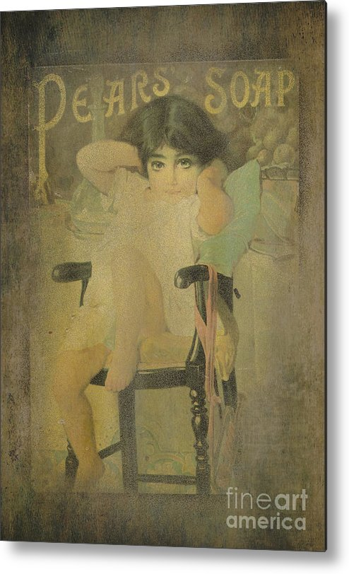 Vintage Metal Print featuring the photograph Pear Soap Girl by Betty LaRue
