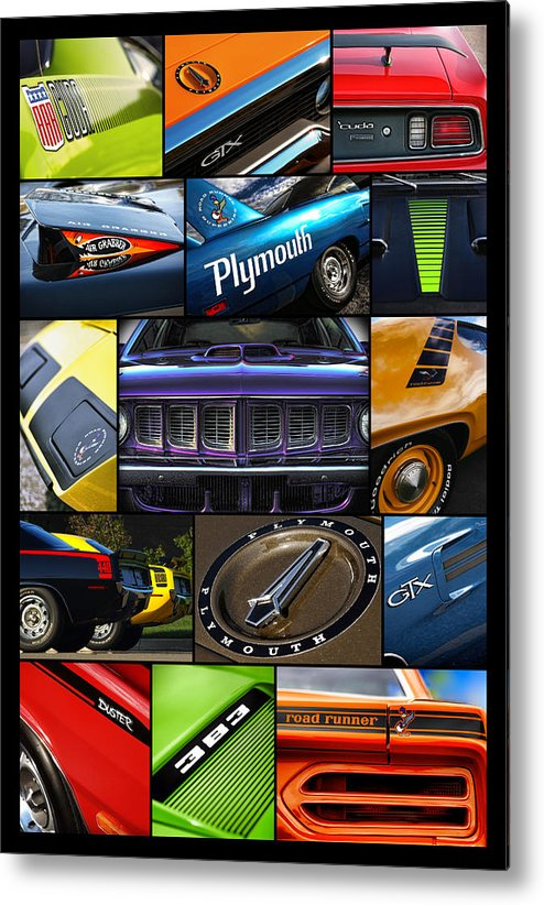 1968 Metal Print featuring the photograph Plymouth Collage No. 1 by Gordon Dean II