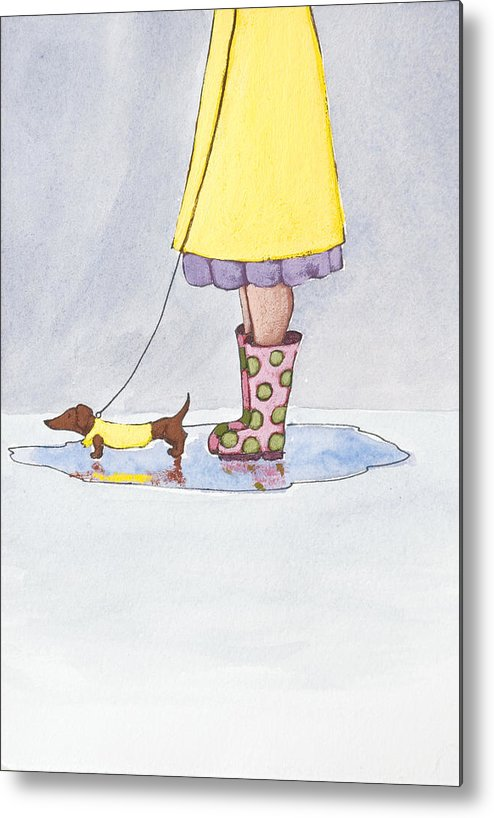Boot Metal Print featuring the painting Rain Boots by Christy Beckwith