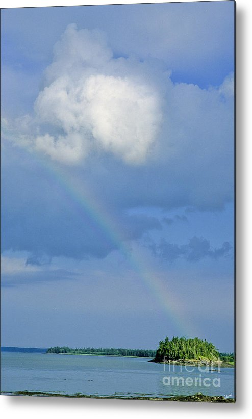 Rainbow Metal Print featuring the photograph Rainbow Over Cobscook Bay by Alana Ranney
