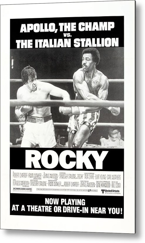 1970s Poster Art Metal Print featuring the photograph Rocky, Us Poster, Sylvester Stallone by Everett