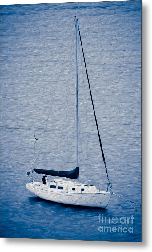 Eastern Caribbean Metal Print featuring the digital art Sailboat Adventure by Kenneth Montgomery
