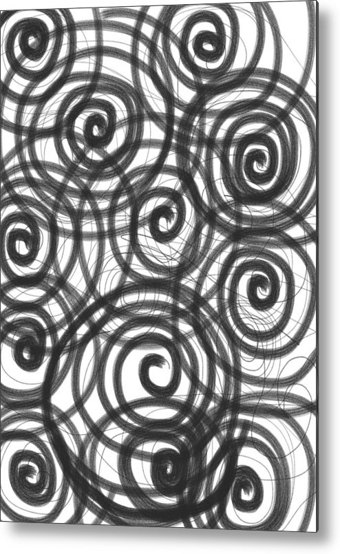 Spiral Metal Print featuring the painting Spirals Of Love by Daina White