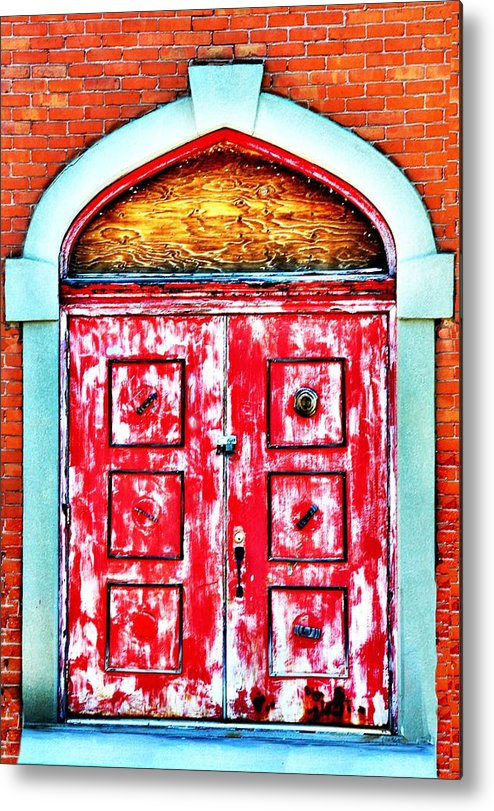 Butte Metal Print featuring the photograph The Red Door by Image Takers Photography LLC - Laura Morgan