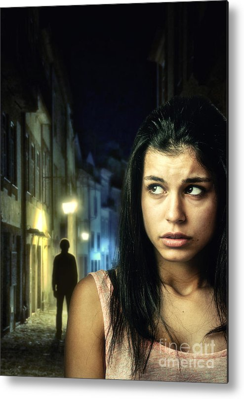 Dark Metal Print featuring the photograph The Stalker by Carlos Caetano