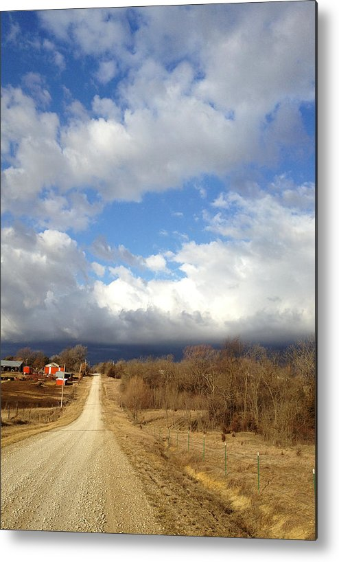 Kansas Metal Print featuring the photograph West Down 77th by Rod Seel