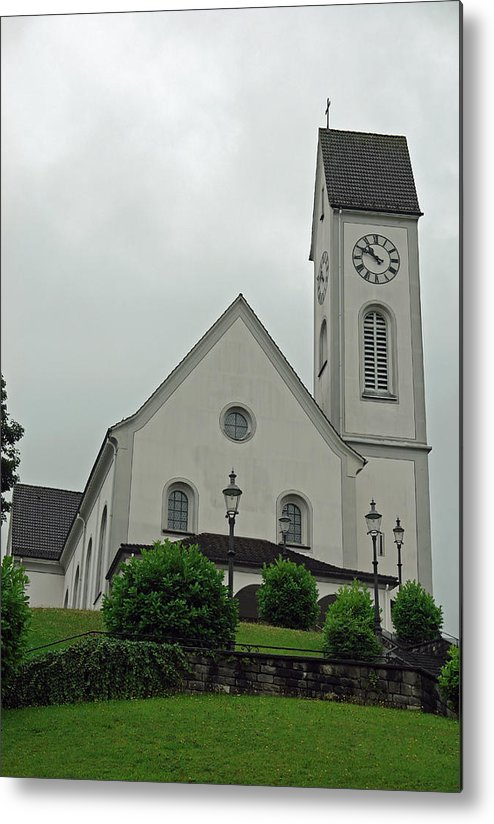 Church Metal Print featuring the photograph Beautiful Church In The Swiss City Of Lucerne by Ashish Agarwal