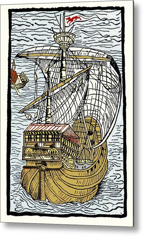 Santa Maria Metal Print featuring the photograph Columbus's Ship The Santa Maria by Sheila Terry