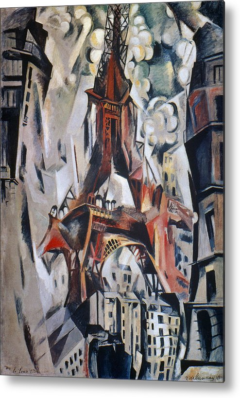 1910 Metal Print featuring the photograph Delaunay: Eiffel Tower, 1910 by Granger